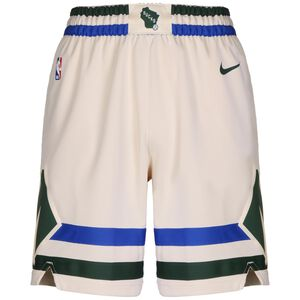 NBA Milwaukee Bucks City Edition Swingman Short Herren, beige / grün, zoom bei OUTFITTER Online