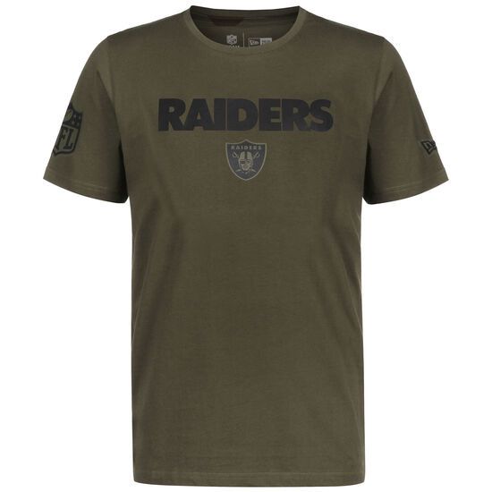 NFL Oakland Raiders Camo Wordmark T-Shirt Herren, oliv, zoom bei OUTFITTER Online