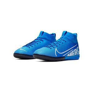 Mercurial SuperflyX VII Academy Indoor Fußballschuh Kinder, blau / weiß, zoom bei OUTFITTER Online