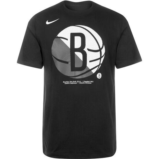 NBA Brooklyn Nets Dry Logo T-Shirt Herren, schwarz, zoom bei OUTFITTER Online