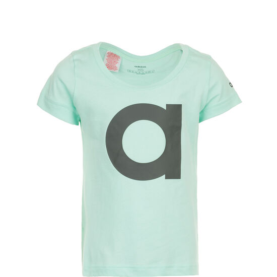 Essentials Branded T-Shirt Kinder, mint, zoom bei OUTFITTER Online
