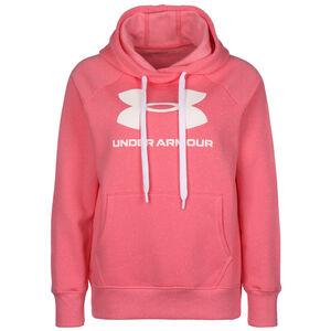 Rival Fleece Logo Kapuzenpullover Damen, pink / weiß, zoom bei OUTFITTER Online