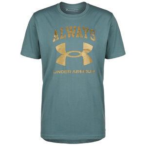 Always Under Armour Trainingsshirt Herren, türkis / gold, zoom bei OUTFITTER Online