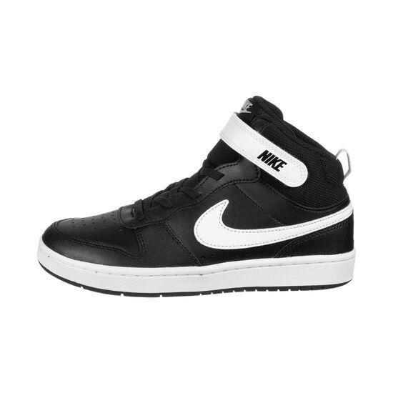 Court Borough Mid Sneaker Kinder, schwarz / weiß, zoom bei OUTFITTER Online
