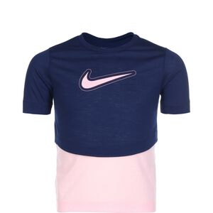 Dri-FIT Trophy Trainingshirt Kinder, dunkelblau / rosa, zoom bei OUTFITTER Online