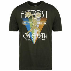 CrossFit Fittest On Earth Trainingsshirt Herren, dunkelgrün / bunt, zoom bei OUTFITTER Online