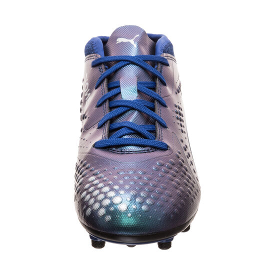 ONE 4 AG Fußballschuh Kinder, blau / silber, zoom bei OUTFITTER Online