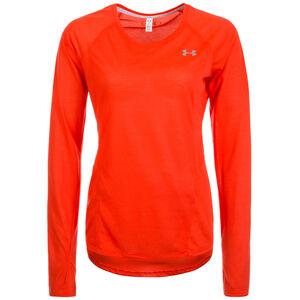 HeatGear Threadborne Streaker Laufshirt Damen, Rot, zoom bei OUTFITTER Online