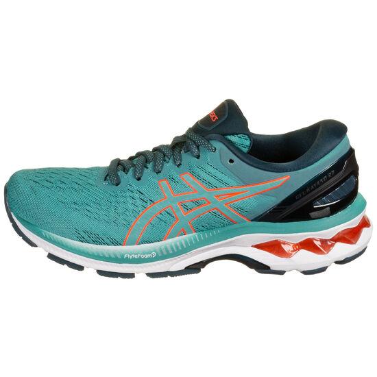 Gel-Kayano 27 Laufschuh Damen, hellblau / rot, zoom bei OUTFITTER Online