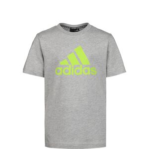 Must Have Badge of Sport T-Shirt Kinder, grau / neongrün, zoom bei OUTFITTER Online