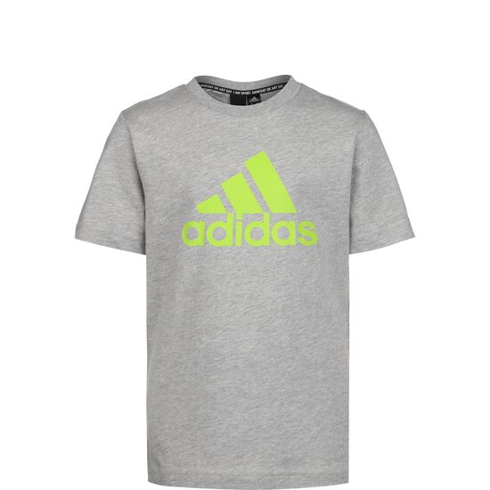 Must Have Badge of Sport T-Shirt Kinder, grau / neongrün, zoom bei OUTFITTER Online