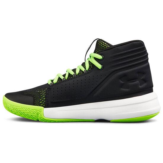 BGS Torch Mid Basketballschuh, schwarz / neongrün, zoom bei OUTFITTER Online