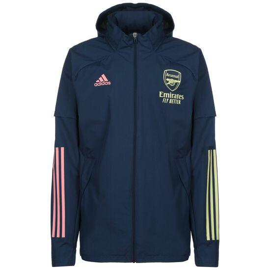 FC Arsenal All Weather Jacke Herren, dunkelblau / gelb, zoom bei OUTFITTER Online