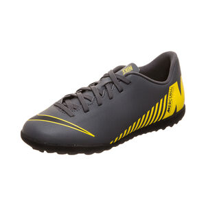 Mercurial VaporX XII Club TF Fußballschuh Kinder, dunkelgrau / gelb, zoom bei OUTFITTER Online