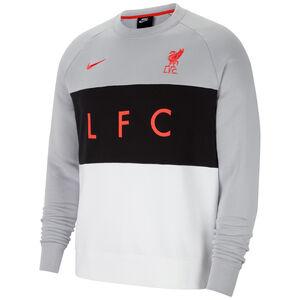 FC Liverpool Air Fleece Crew Sweatshirt Herren, grau / schwarz, zoom bei OUTFITTER Online