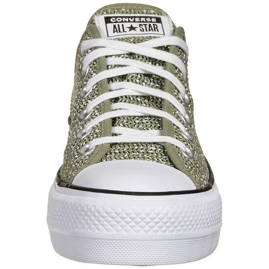 Chuck Taylor All Star Platform OX Sneaker Damen, grün / weiß, zoom bei OUTFITTER Online