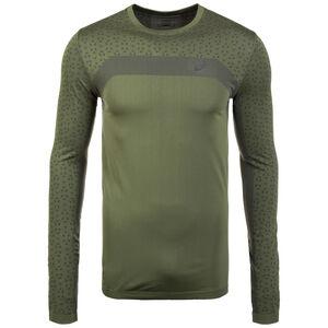 Seamless Texture Laufshirt Herren, oliv / dunkelgrün, zoom bei OUTFITTER Online