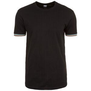 Rib Ringer T-Shirt Herren, schwarz, zoom bei OUTFITTER Online