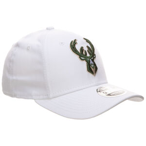 9FIFTY NBA White Base Milwaukee Bucks Cap, weiß / grün, zoom bei OUTFITTER Online