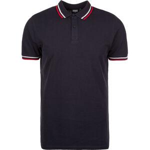 Double Stripe Poloshirt Herren, blau / weiß / rot, zoom bei OUTFITTER Online