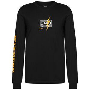 LeBron Dry Longsleeve Herren, schwarz / gelb, zoom bei OUTFITTER Online