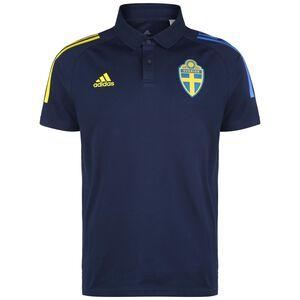 Schweden Poloshirt EM 2021 Herren, dunkelblau / gelb, zoom bei OUTFITTER Online
