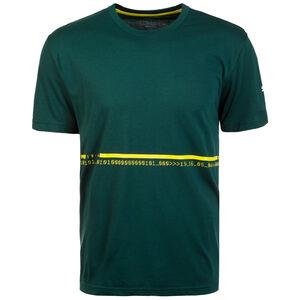 Energy Triblend Trainingsshirt Herren, dunkelgrün / gelb, zoom bei OUTFITTER Online