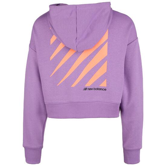 Sport Style Optiks Kapuzenpullover Damen, lila / orange, zoom bei OUTFITTER Online