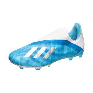 X 19.3 LL FG Fußballschuh Kinder, hellblau / silber, zoom bei OUTFITTER Online