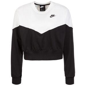 Heritage Crew Fleece Sweatshirt Damen, schwarz / weiß, zoom bei OUTFITTER Online