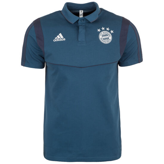FC Bayern München Cotton Poloshirt Herren, dunkelblau / weiß, zoom bei OUTFITTER Online