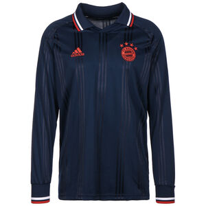 FC Bayern München Icons Longsleeve Herren, dunkelblau / rot, zoom bei OUTFITTER Online
