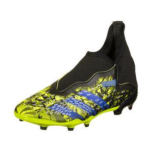 Predator Freak .3 Laceless FG Fußballschuh Kinder, gelb / blau, zoom bei OUTFITTER Online
