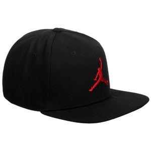 Jordan Pro Jumpman Snapback Cap, schwarz / rot, zoom bei OUTFITTER Online
