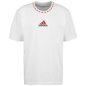 FC Bayern München Icon T-Shirt Herren, weiß / rot, zoom bei OUTFITTER Online