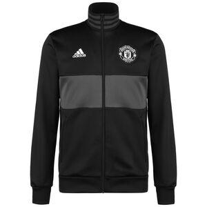 Manchester United 3-Streifen Trainingsjacke Herren, schwarz / grau, zoom bei OUTFITTER Online