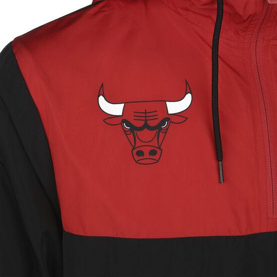 NBA Colour Block Chicago Bulls Windbreaker Herren, schwarz / rot, zoom bei OUTFITTER Online