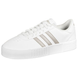 Court Bold Sneaker Damen, weiß / rosé gold, zoom bei OUTFITTER Online