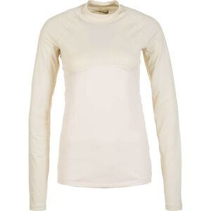 Pro Warm Trainingsshirt Damen, beige / gold, zoom bei OUTFITTER Online