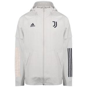 Juventus Turin All Weather Jacke Herren, hellgrau / dunkelblau, zoom bei OUTFITTER Online
