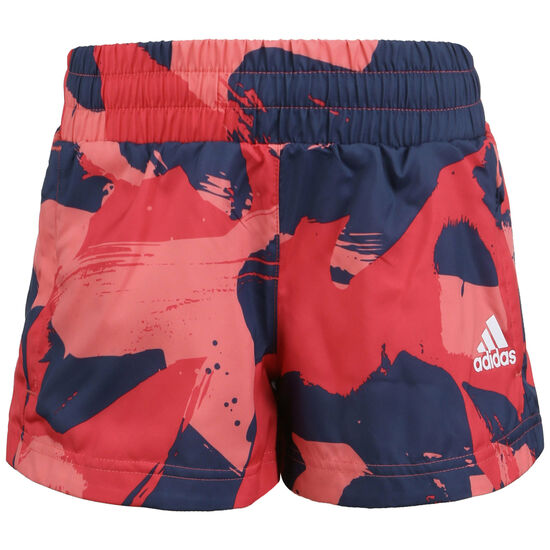 Woven Trainingsshort Kinder, rot / blau, zoom bei OUTFITTER Online