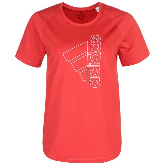 Badge Of Sport Tech Trainingsshirt Damen, rot / weiß, zoom bei OUTFITTER Online