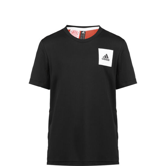 Aeroready Trainingsshirt Kinder, schwarz / rot, zoom bei OUTFITTER Online