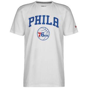 NBA Seasonal Team Logo Philadelphia 76ers T-Shirt, weiß / blau, zoom bei OUTFITTER Online