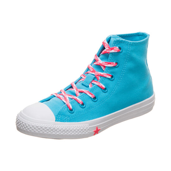 Chuck Taylor All Star High Sneaker Kinder, türkis / pink, zoom bei OUTFITTER Online