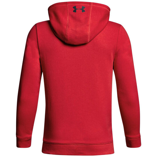 French Terry Hoodie Kinder, rot / dunkelgrau, zoom bei OUTFITTER Online