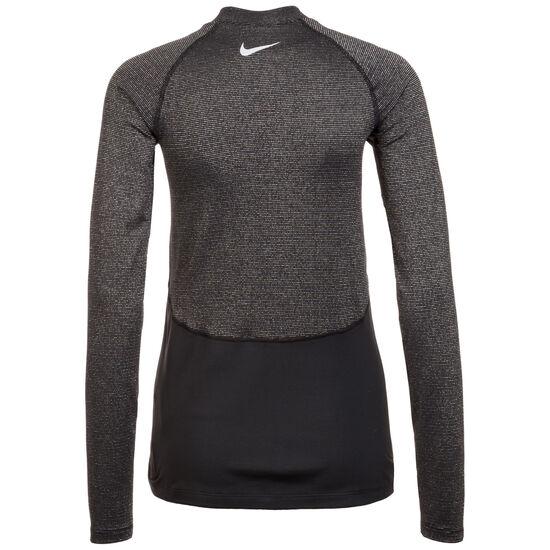 Pro Warm Trainingsshirt Damen, schwarz / silber, zoom bei OUTFITTER Online