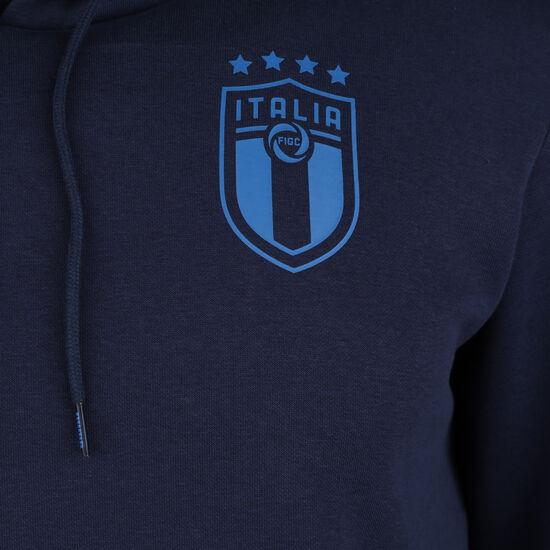 FIGC Italien FtblCulture Kapuzenpullover EM 2021 Herren, dunkelblau / blau, zoom bei OUTFITTER Online