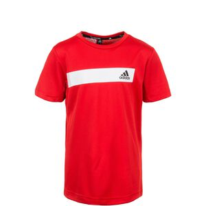 Cool Trainingsshirt Kinder, rot / weiß, zoom bei OUTFITTER Online