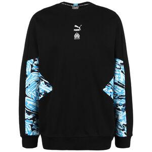 Olympique Marseille TFS Crew Sweatshirt Herren, schwarz / blau, zoom bei OUTFITTER Online